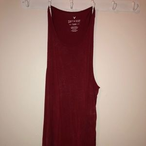 Red American eagle tank